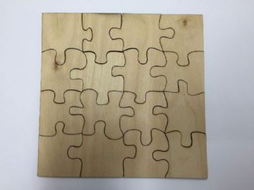 16 Piece Blank Wooden Jigsaw Puzzle Blank - 3 sizes to choose from